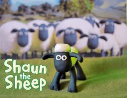 Shaun the Sheep by Mad3m0is3ll3-K3y