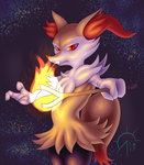Determined Braixen by SacrificAbominat