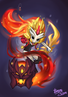 Chibi Shadowfire Kindred by KemiKuri