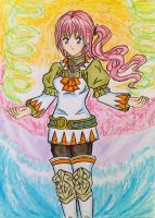 FFXIII-2: Serah Farron White Mage by dagga19 by dagga19