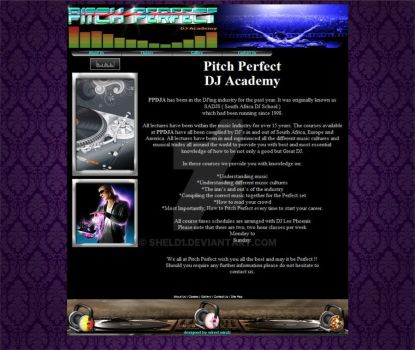 Pitch Perfect web site by ShelD1