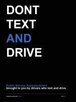 Dont Text and Drive by KRONTM