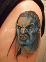 Avatar Jake Sully Tattoo in COLOR by RockerMissTammy