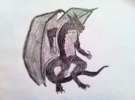 DRAGOON SKETCH by thehobbitart by DEVIOUS-DISCORD-RP