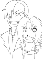 Ed and Greed -Lines- by MzMegs