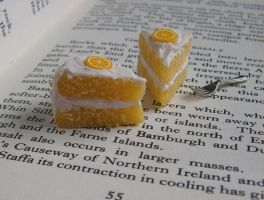 Lemon Cake Charms by Fimochu