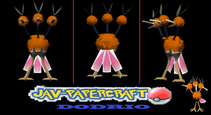 Dodrio papercraft + download by javierini