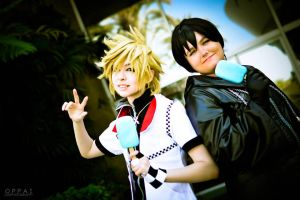 Kingdom Hearts: Roxas and Xion by InuKid