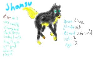 Shansu ref sheet by CanineCriminal