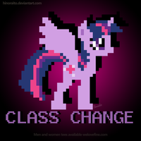 MLP FIM: Alicorn Twilight 8 Bit by hinoraito