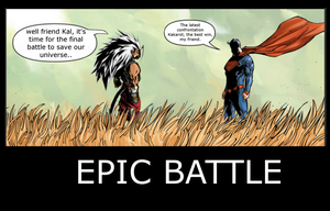 Goku vs Superman the epic battle by JayC79