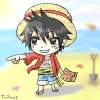 Luffy chibi by TimTam13