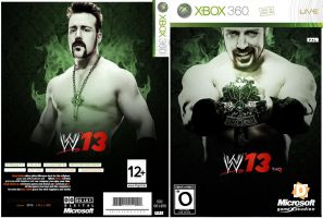 shames new cover game ( wwe 2013) face and back by OMARAHMEDDESGINER