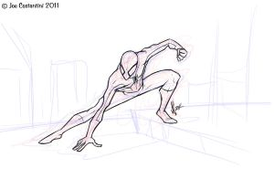 Spidey Pose 12-06-11 by JoeCostantini
