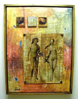 Adam and Eve in Persia by Painter1959