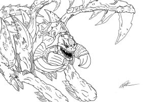 Zergling Lineart Attempt by MaTth1as