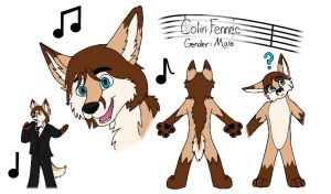 Colin the Fennec ref sheet by sonofawerewolf