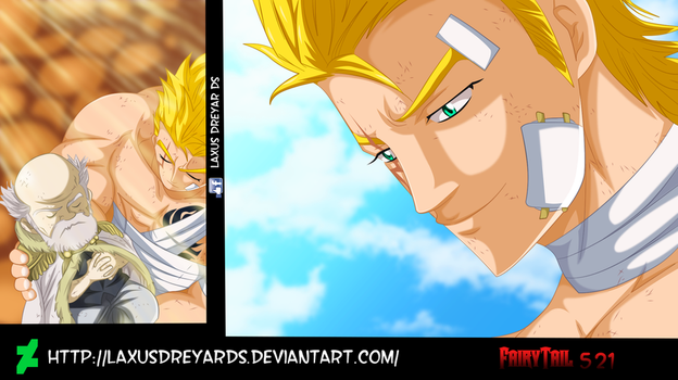 Laxus y Makarov Fairy Tail 521 by LaxusDreyarDs