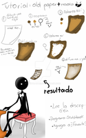 tutorial :old paper: by BoxyKawaii
