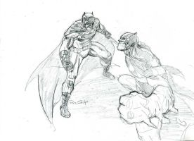 Batman Vs Clayface by PhilipSasko
