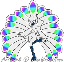 .:CE:. Rainbow Peacock by BlueWaterRose