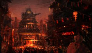 Environment - Future China Town by undercoreart