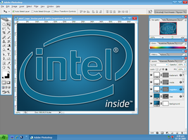 Intel Logo Vector PSD by yethzart