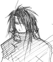 FF7- Vincent Valentine sketch by majochan