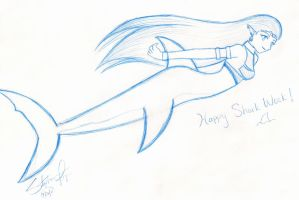 Happy Shark Week -sketch- by BklynSharkExpert
