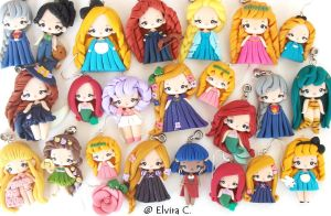 New polymer clay dolls by elvira-creations