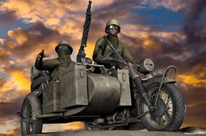 WWII German recce unit by Flipomucho