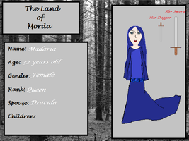 LATR - Madaria - Queen of Morda - Ref Sheet by melfurny
