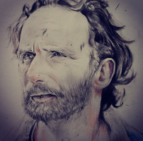 The Walking Dead (Rick Grimes) Drawing by Christianspiral