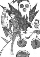 Death the kid and the Shinigami CHOP by PlisPlox