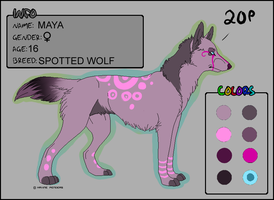 FEMALE Wolf Adoptable - CLOSED by MoonKiarara