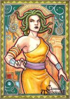Classic Mythology2 Medusa AP sketch card by JASONS21
