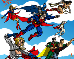 The Superman Family by cheddarpaladin