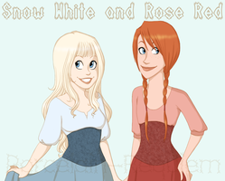 Snow White and Rose Red by Porcelain-Requiem