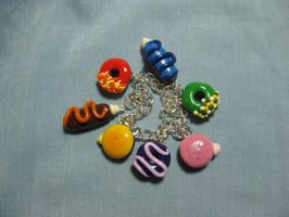 Rainbow Donut Bracelet-FOR SALE- by kitcat4056