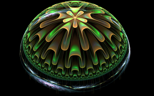 greenbrown glass hemisphere by Andrea1981G