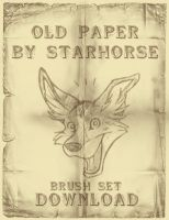 Old Paper Brush Set by Starhorse
