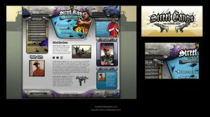 Gangsta game web design by karsten