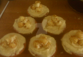 Popcorn and white chocolate cupcakes by waffle-faceXD