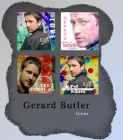 Gerry Butler icons by pilka3331