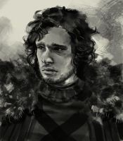 Jon Snow Game of Thrones drawing by XiaMan
