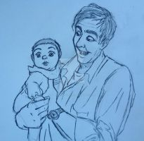 Papa White and His Baby Girl by LittleMissLoveBites