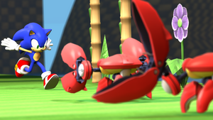 Sonic Gonna Run Right Through The Badniks by NightB1ader
