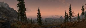Whiterun and the Setting Sun 2 by The-Brade