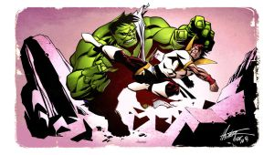 Karate Kid vs The Hulk by spidermanfan2099