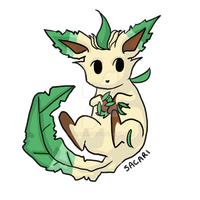 Blinking Leafeon by Sacari